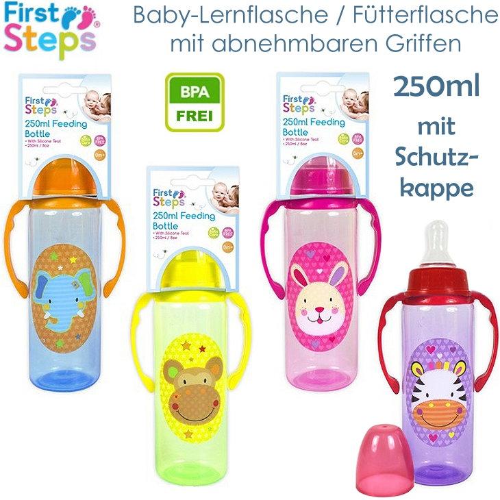 Babyflasche Lernflasche mit abnehmbaren Griffen