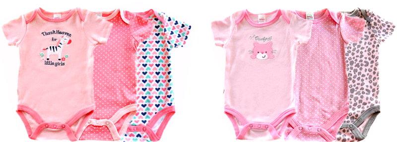 Soft Touch 3 Stück Set Baby Body für Mädchen