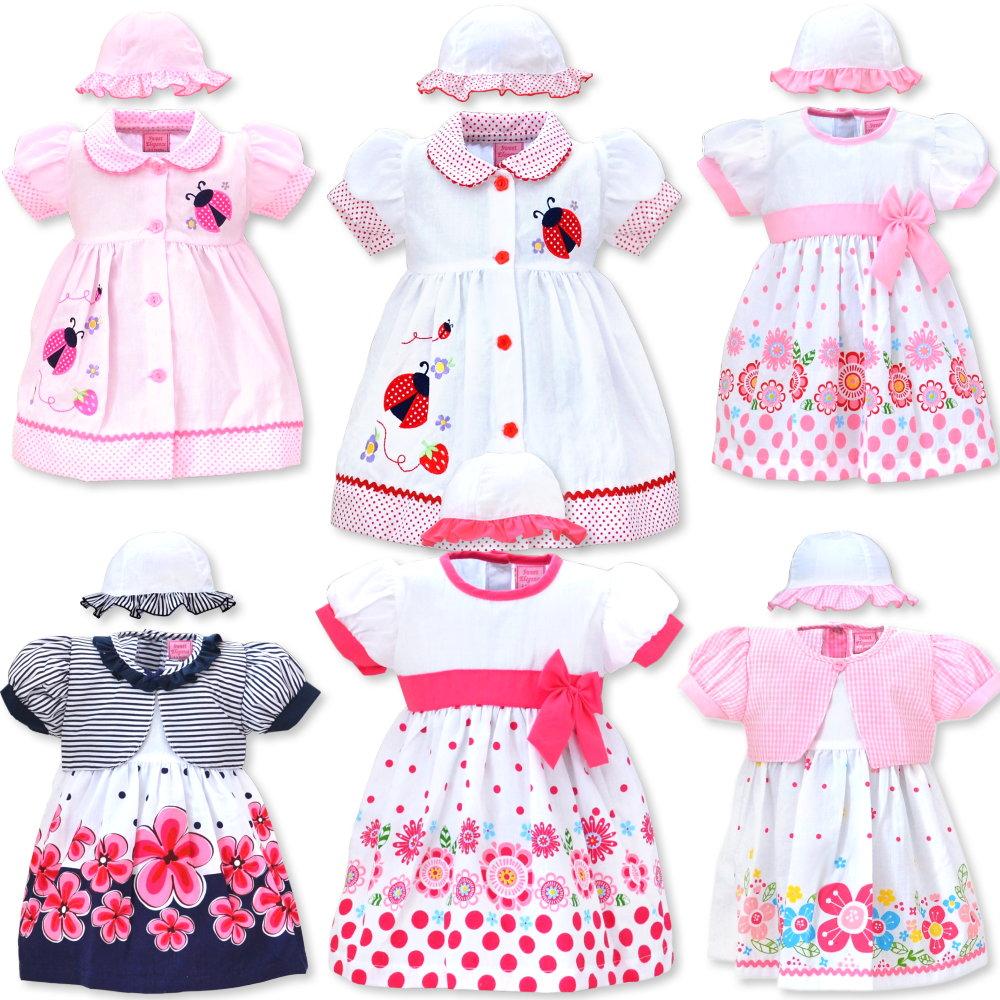 meet 5321f bfcc3 Sweet Elegance: 3-teiliges Babykleid mit Hut und Windelhose