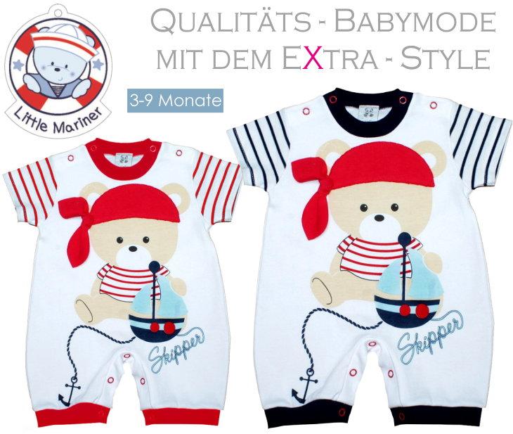Little Mariner Baby Strampler Spieler Schlafanzug Overall Skipper