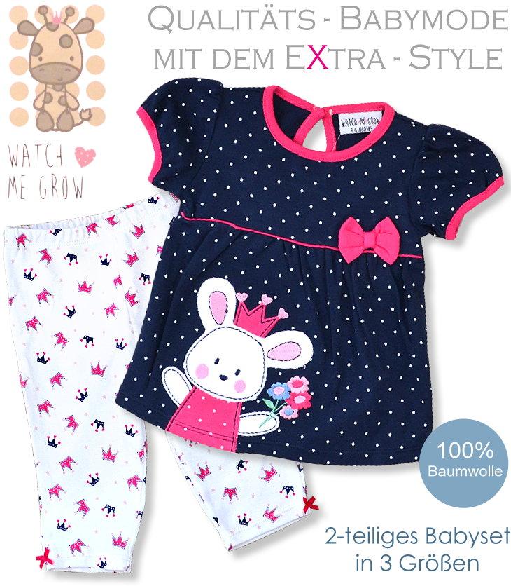 Watch me grow Babyset Kleid und Hose aus 100% Baumwolle