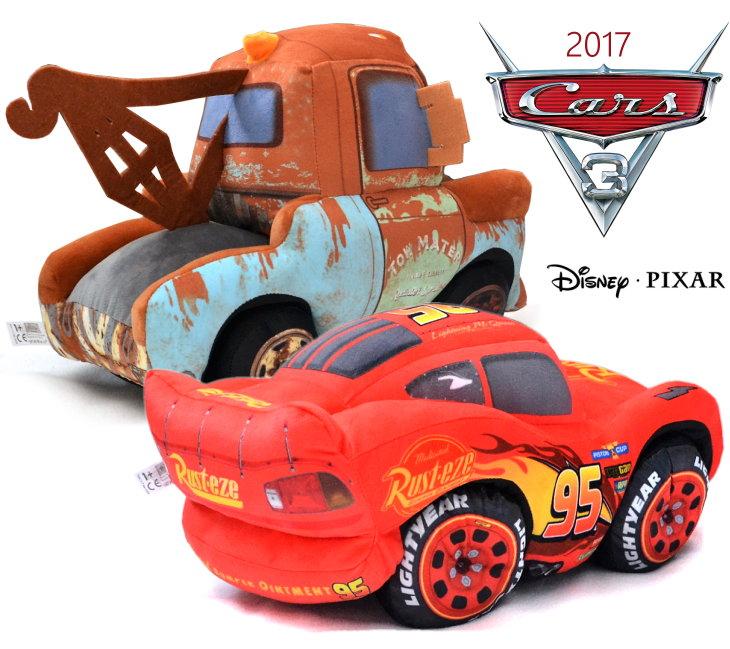 42cm große Disney Plüsch Figur Cars 3 Lightning McQueen Hook
