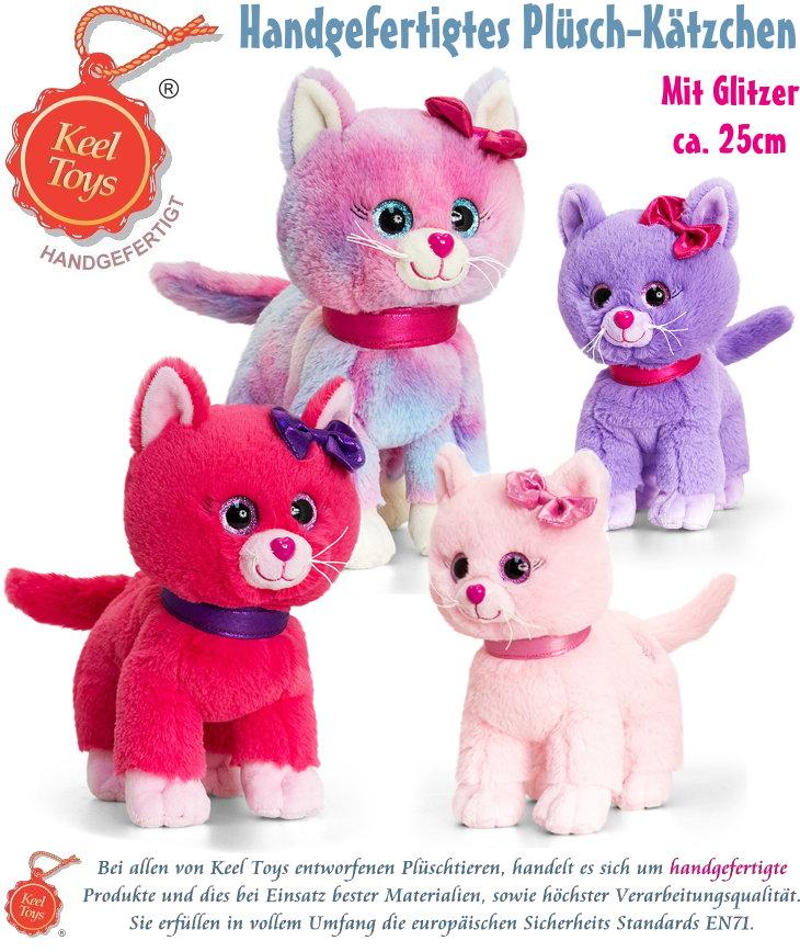 Keel Toys handgefertigtes Plüsch Kätzchen Kuscheltier