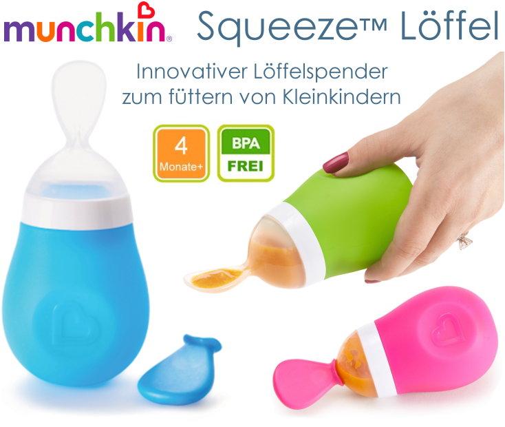 Munchkin Squeeze Silkon Fütterlöffel