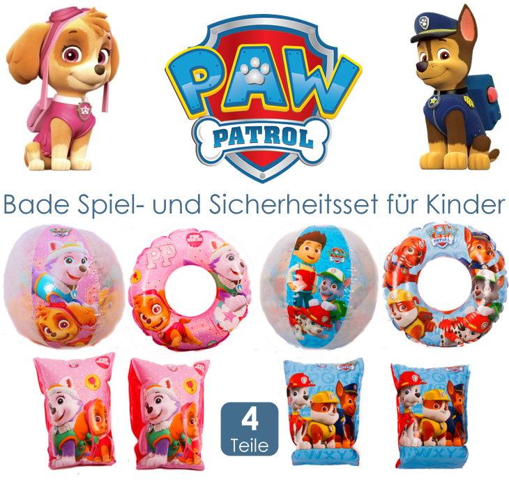 Paw Patrol Kinder Badespielzeug Schwimmring Wasserball