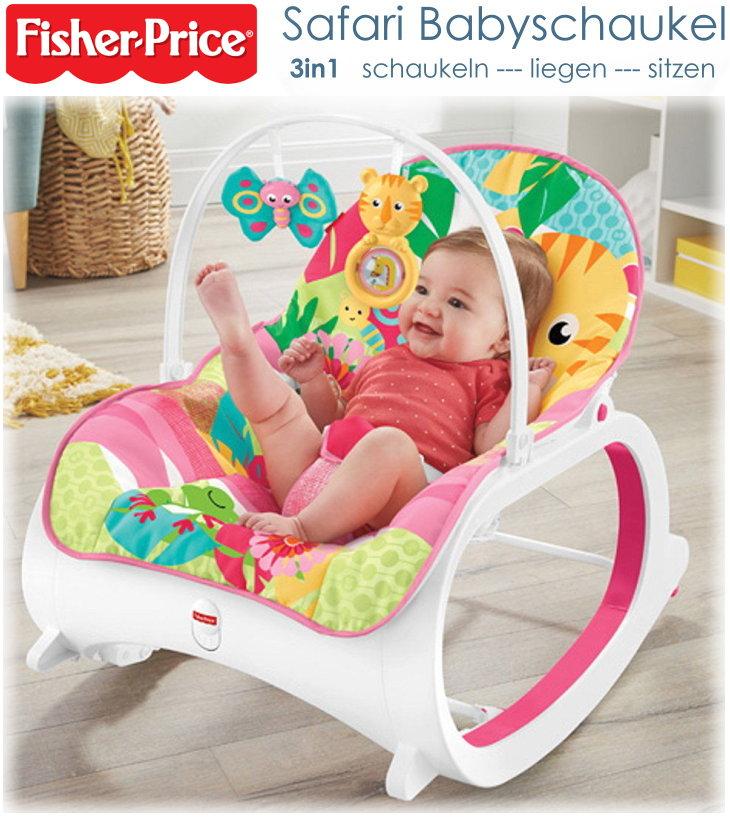 fisher price babyschaukel fmn41 vibration 3in1 funktion lehne einstellbar rosa ebay. Black Bedroom Furniture Sets. Home Design Ideas