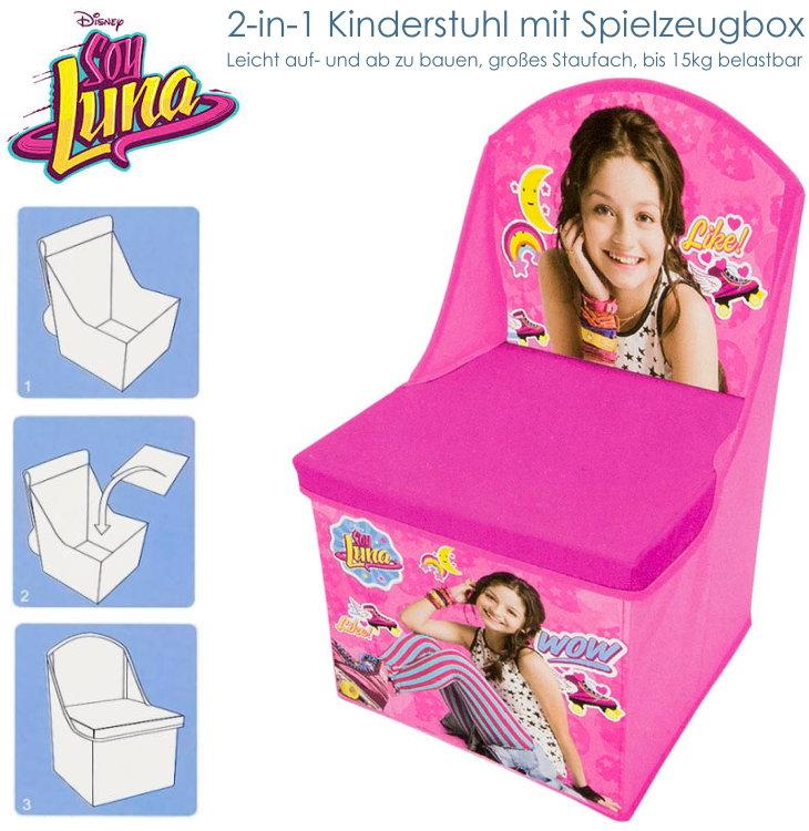 kinderstuhl sessel soy luna disney spielzeugbox hocker mit lehne karol sevilla ebay. Black Bedroom Furniture Sets. Home Design Ideas