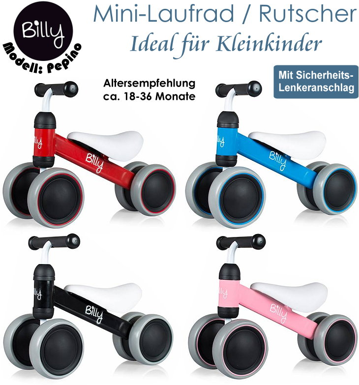 billy kinder mini laufrad und rutscher f r kleinkinder pepino. Black Bedroom Furniture Sets. Home Design Ideas