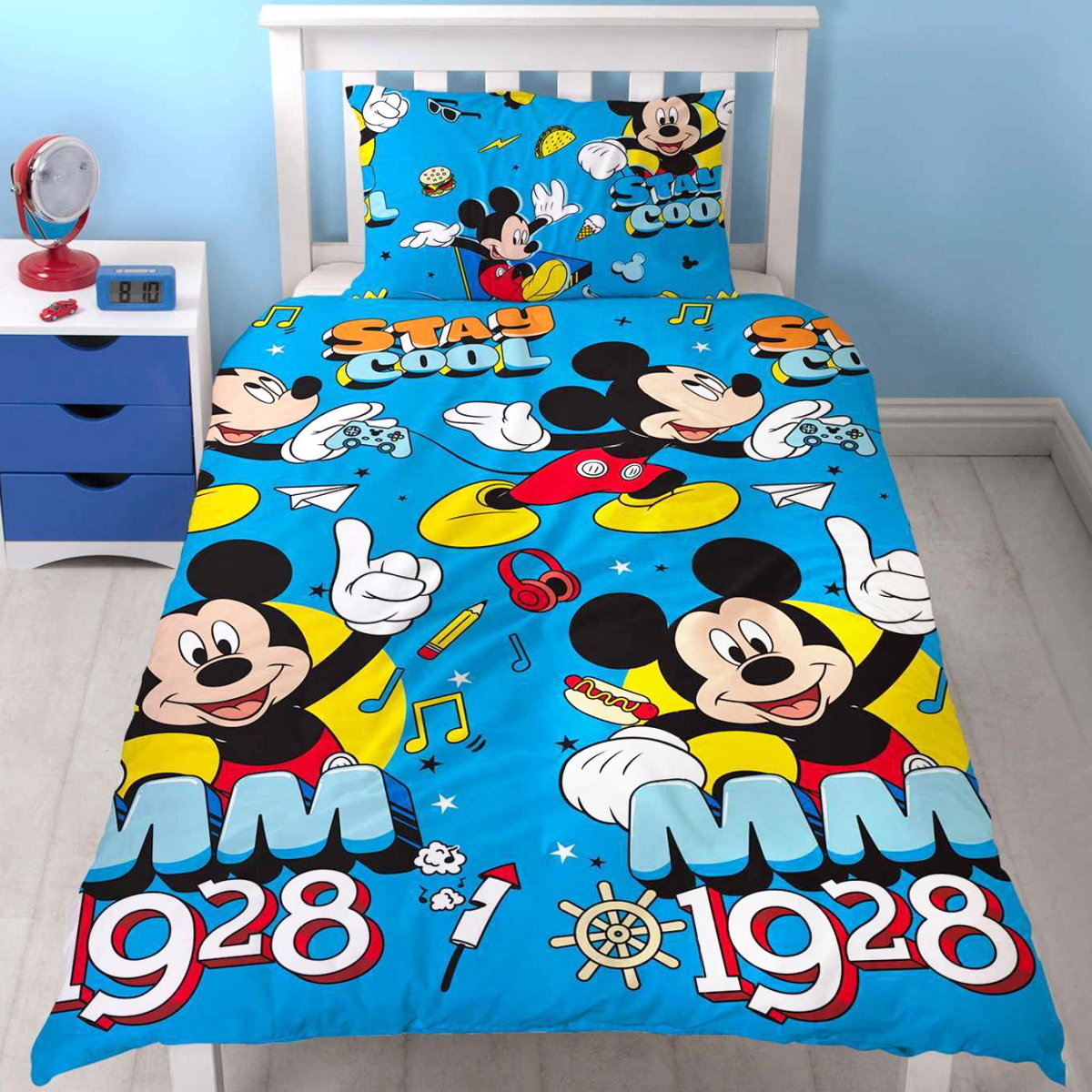 disney kinder bettw sche micky maus bettgarnitur bettbezug kissenb mickey mouse ebay. Black Bedroom Furniture Sets. Home Design Ideas