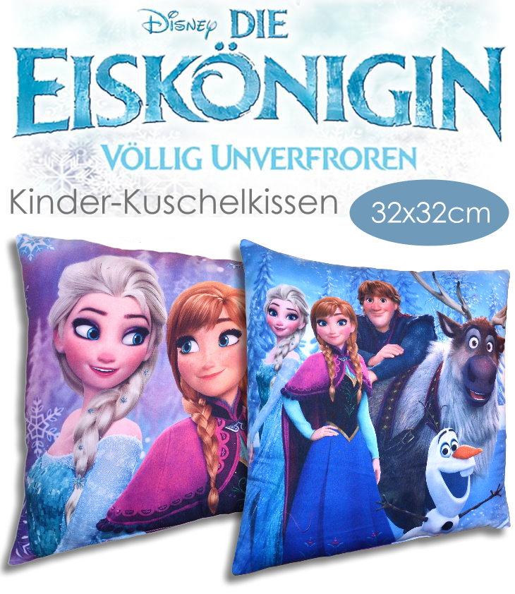 Kinder Kuschel Kissen Die Eiskönigin mit Anna Elsa Olaf