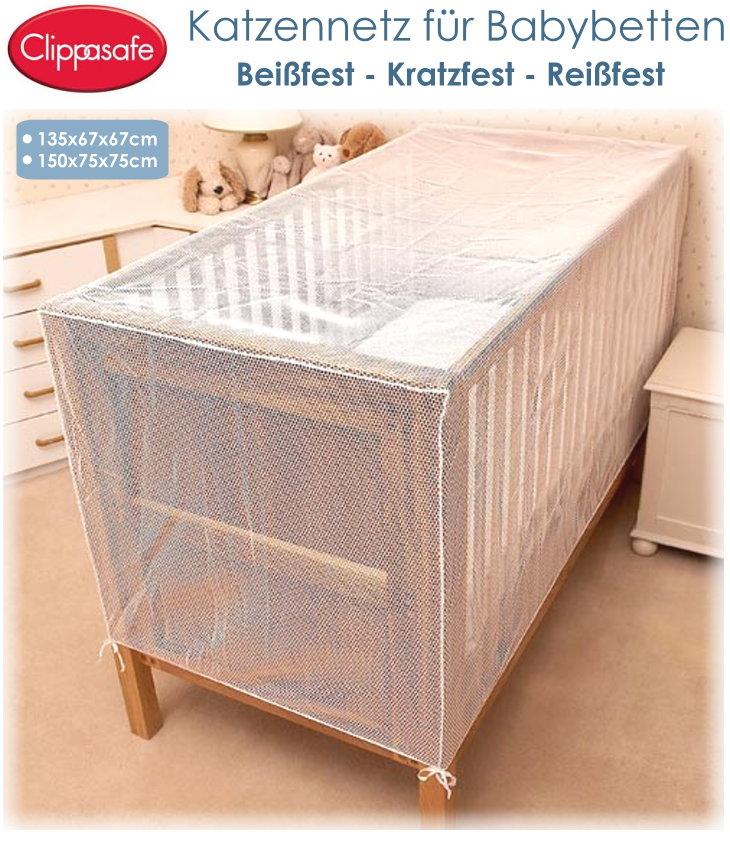 Clippasafe Katzennetz für Babybett