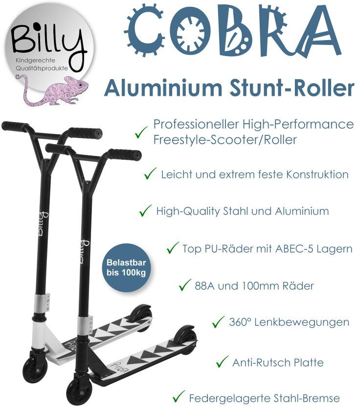 Stunt Roller Stuntscooter Kinder Tretroller Billy