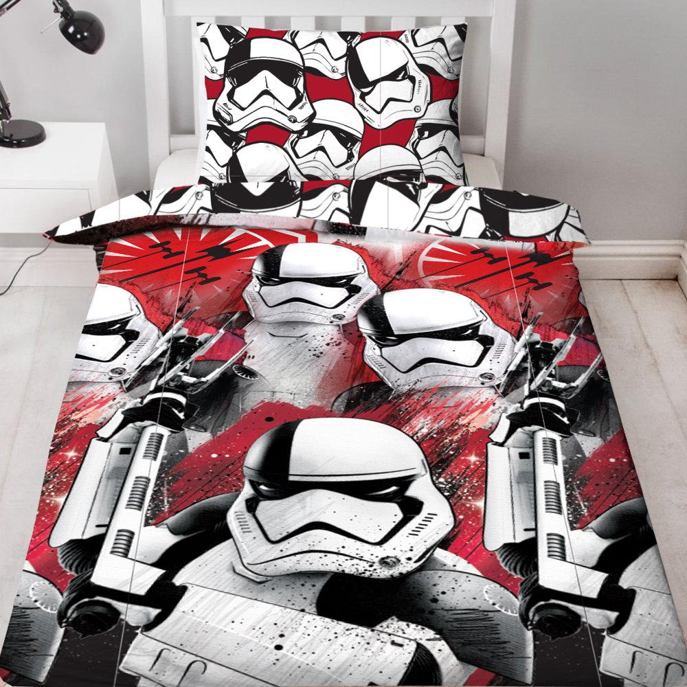 star wars kinderbettw sche episode 8 trooper bett und kissen bezug garnitur neu ebay. Black Bedroom Furniture Sets. Home Design Ideas