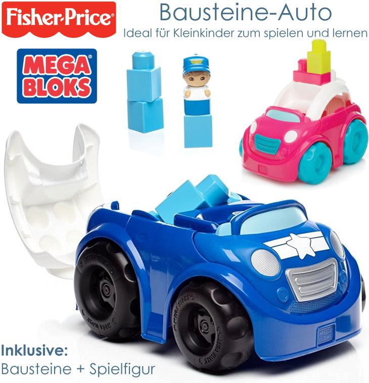 Mega Bloks von Fisher-Price Bausteine Auto für Kleinkinder