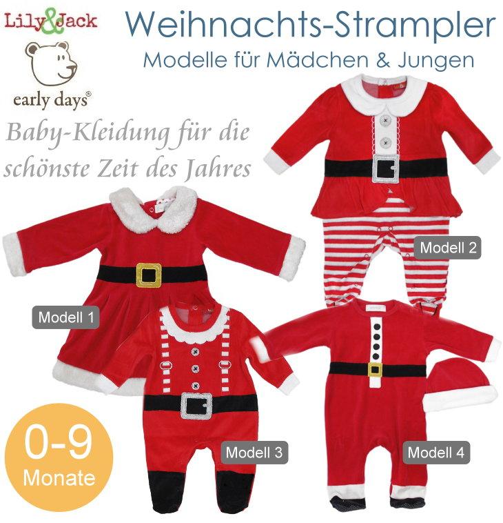 Baby Weihnachtskostüm Weichnachtsstrampler