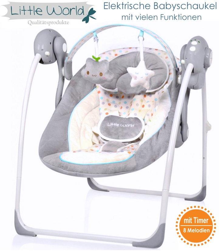 Elektrische Automatische Babyschaukel Baby Wiege Wippe Little World ...