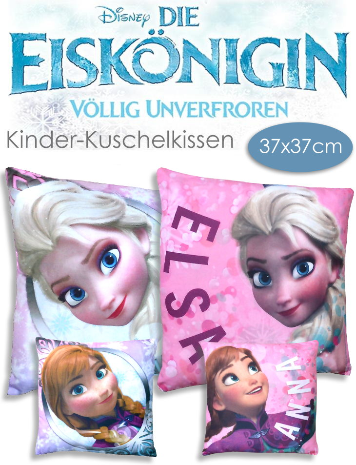 Kinder Kuschel Kissen Die Eiskönigin mit Anna und Elsa