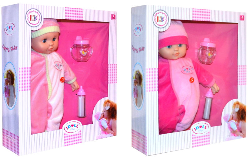 IDOLL BabyPuppe 38cm groß mit Geräuschen