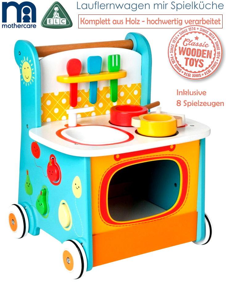 Mothercare ELC Holz Lauflernwagen Mit Spielküche