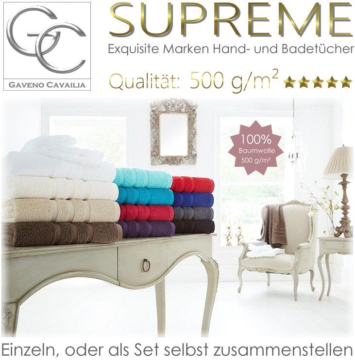 Supreme Badetuch Handtuch 100% Baumwolle 500g/m2