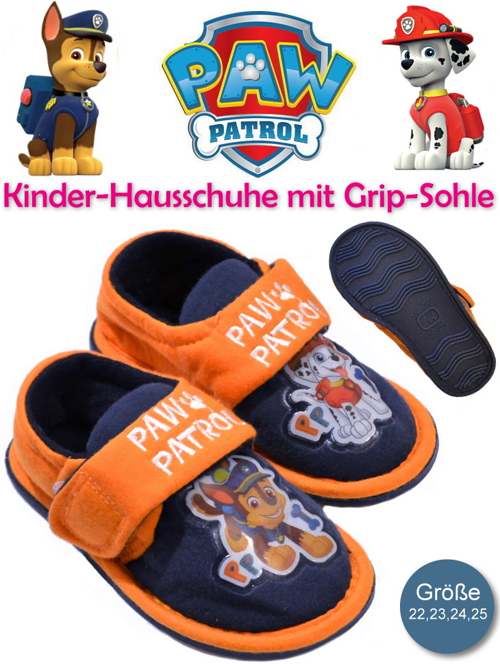 Kinder-Hausschuhe Paw Patrol