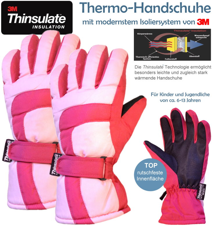 3M Thinsulate Thermo Handschuhe Mädchen