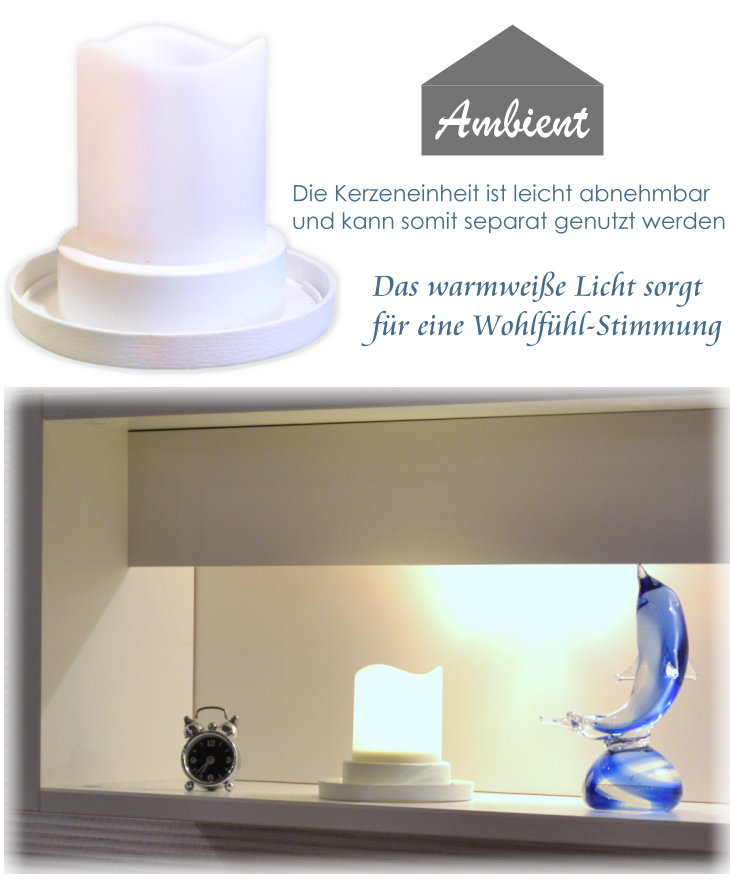 laterne led licht warmwei 17 24 kerze abnehmbar candle. Black Bedroom Furniture Sets. Home Design Ideas