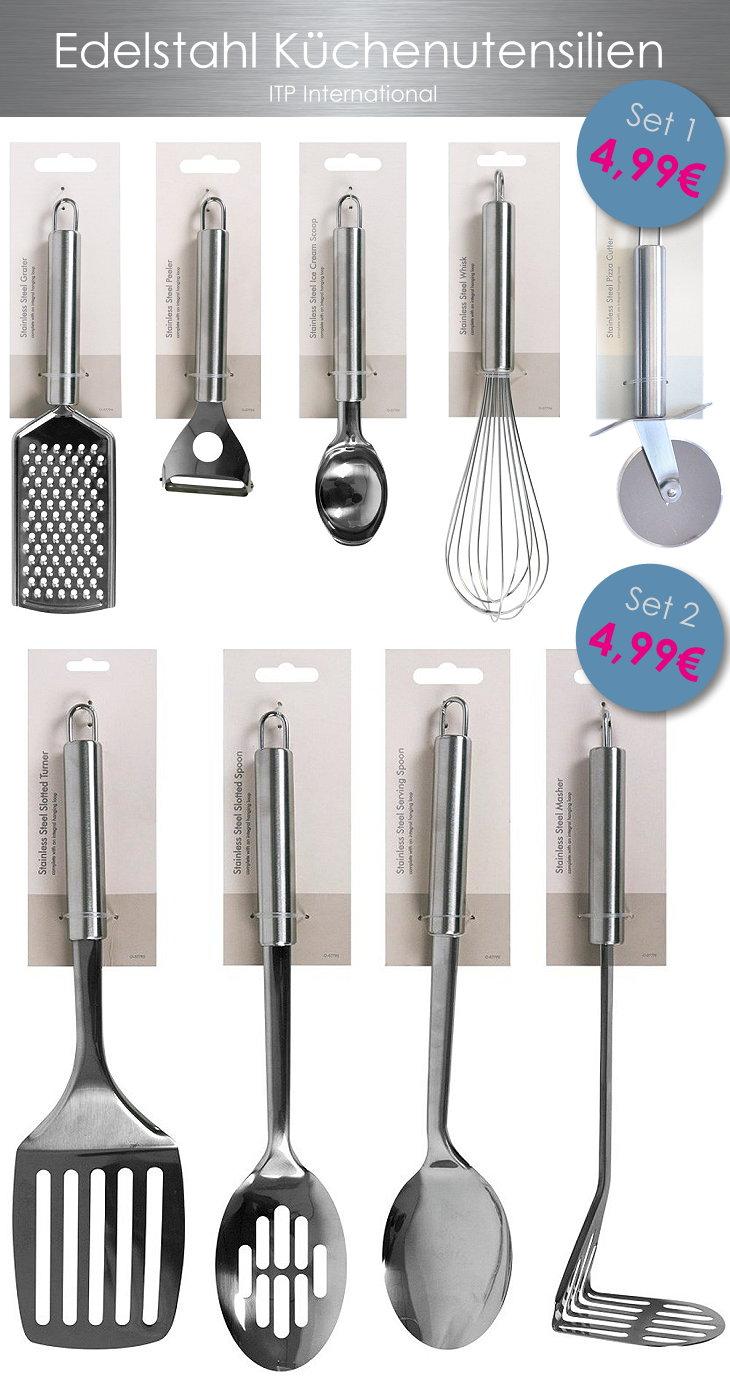 Edelstahl Küchenbesteck Küchenutensilien Küchenwerkzeuge Set günstig ...
