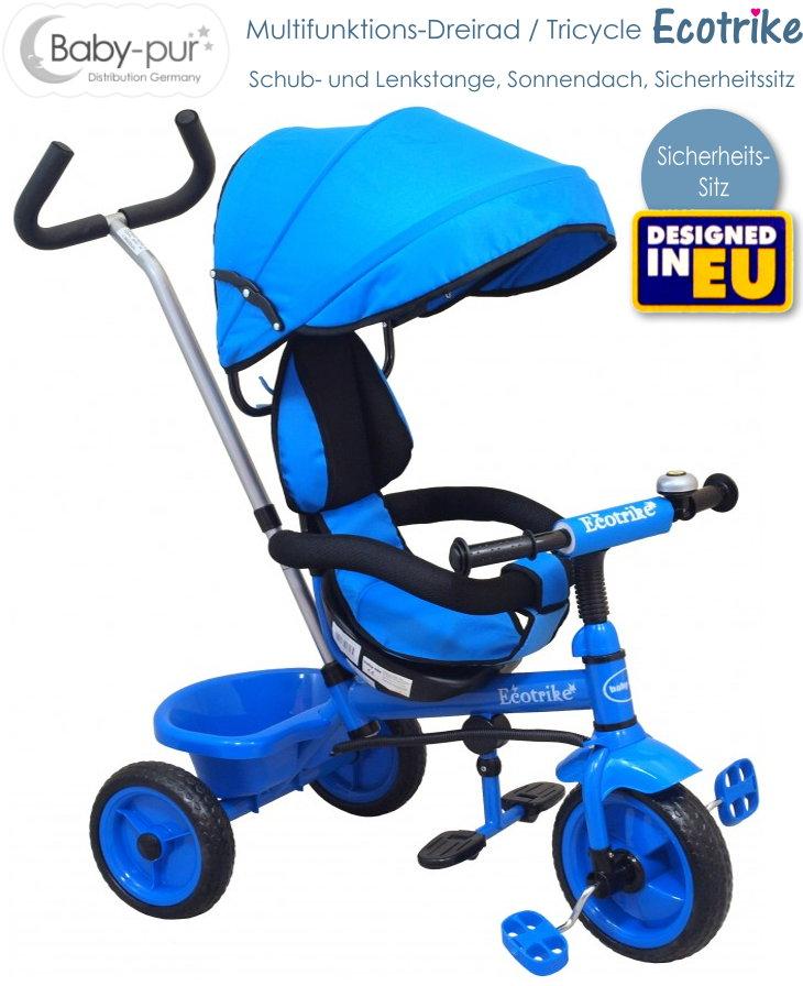 Baby-pur Schiebe-Dreirad Rapid