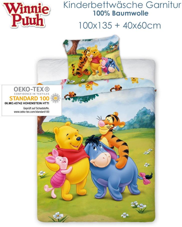 Winnie Puuh Baby Und Kinderbettwäsche 100x135cm 244