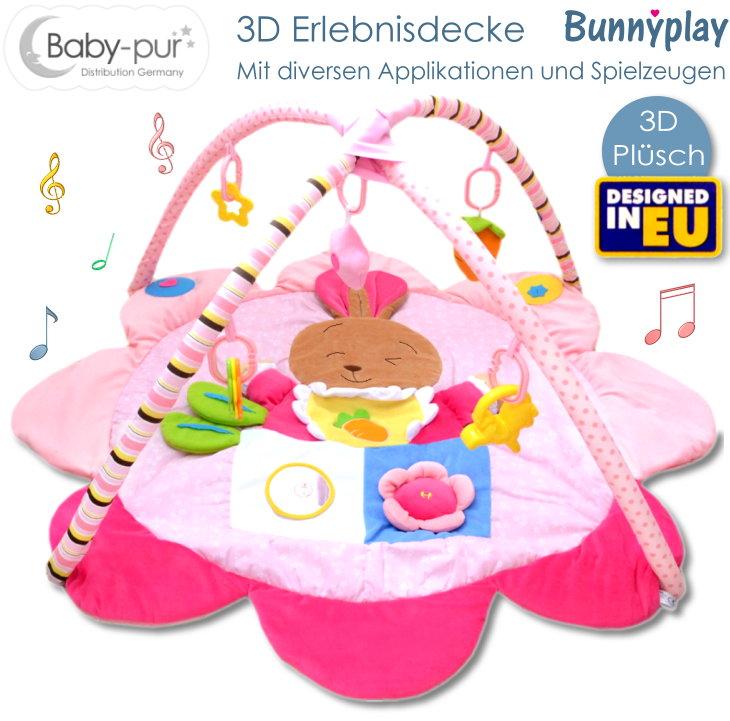 Baby-pur Baby 3D Erlebnisdecke Spieldecke Bunnyplay