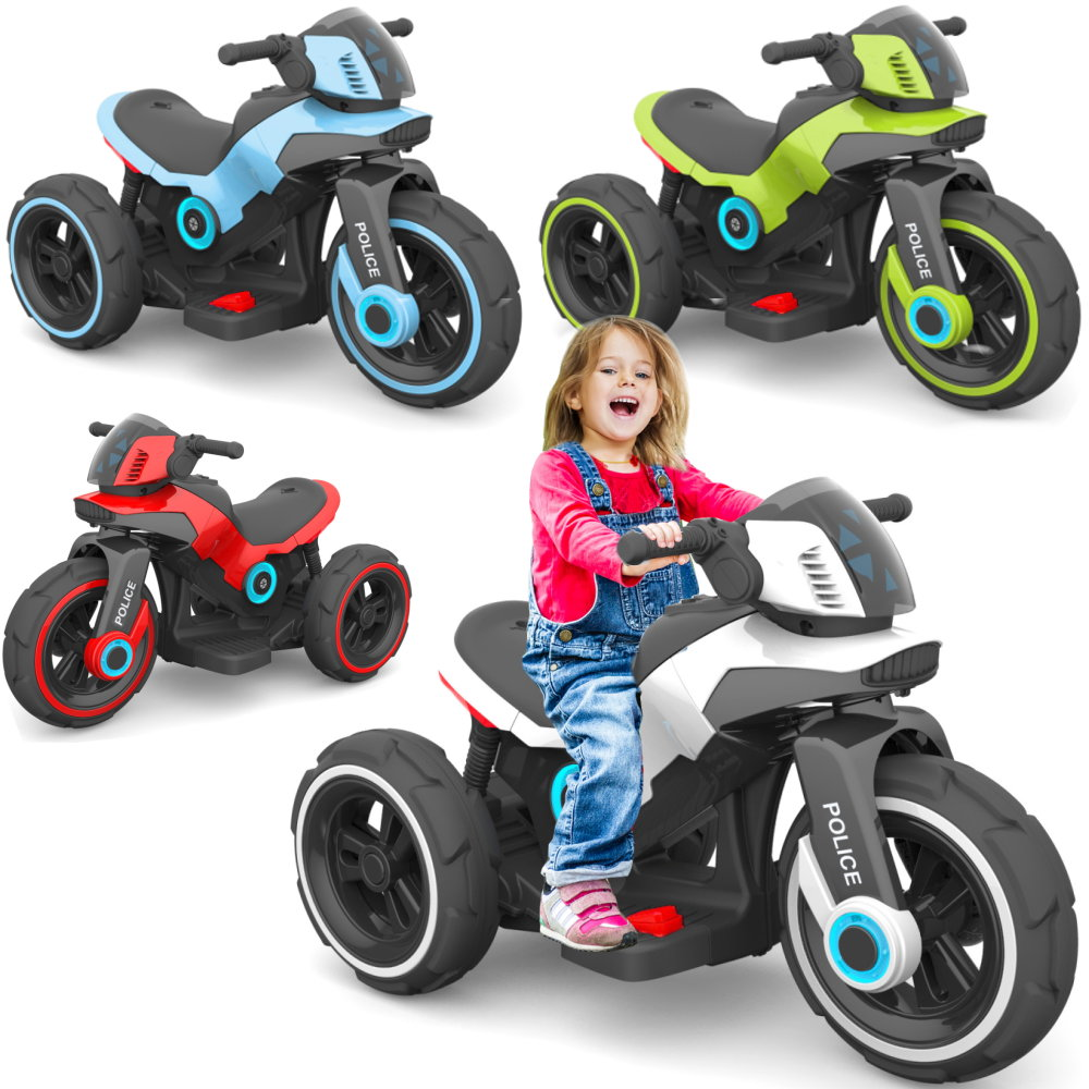 elektrisches kinder motorrad elektrofahrzeug police e trike. Black Bedroom Furniture Sets. Home Design Ideas
