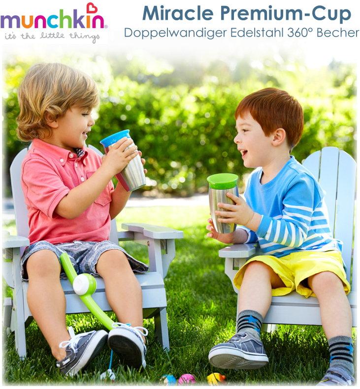 Munchkin Miracle Edelstahl 360° Becher