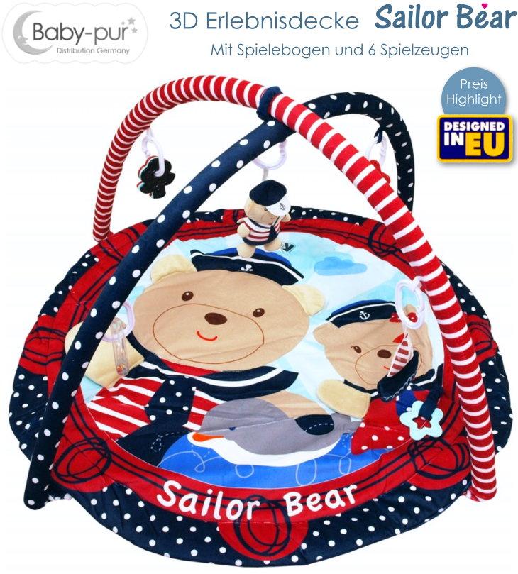 Baby-pur Baby 3D Erlebnisdecke Spieldecke Sailor Bear