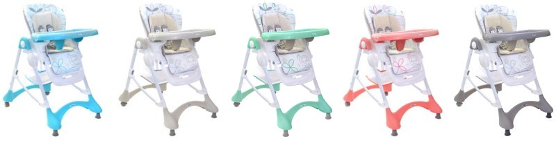 verstellbarer Kinder-Hochstuhl Sheep mit abnehmbarer Tischplatte und faltbar