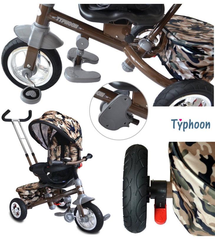 dreirad schiebedreirad kinder trike camouflage drehbarer. Black Bedroom Furniture Sets. Home Design Ideas