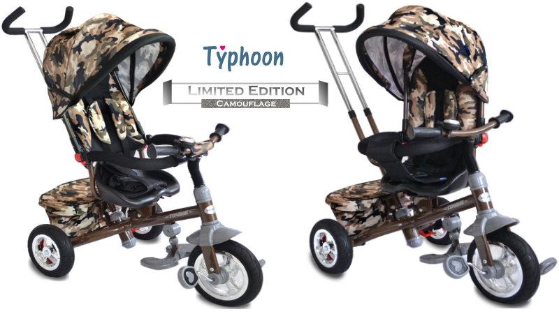 Baby-pur Typhoon Camouflage Kinderdreirad zum schieben