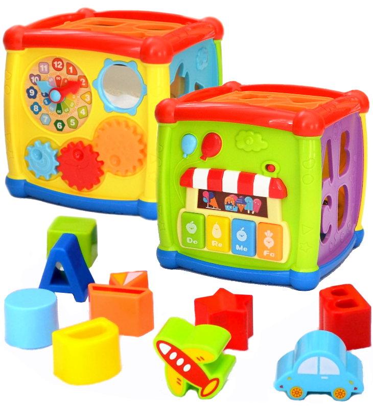 Baby-pur Lux Cube Motorikwürfel Lernwürfel