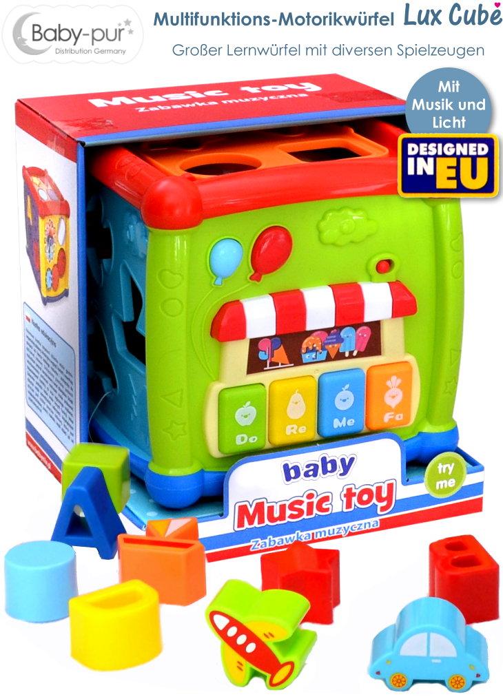 Baby-pur Motorikwürfel Spielewürfel Lux Cube
