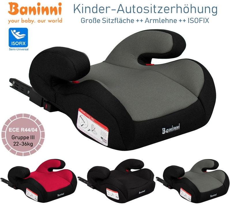 Baninni RobuAuto Kindersitz Sitzerhöhung ISOFIX