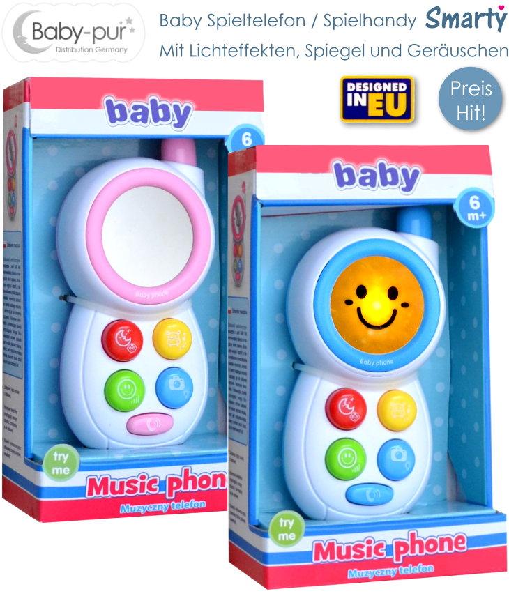 Baby Spielzeugtelefon mit Licht und Geräuschen