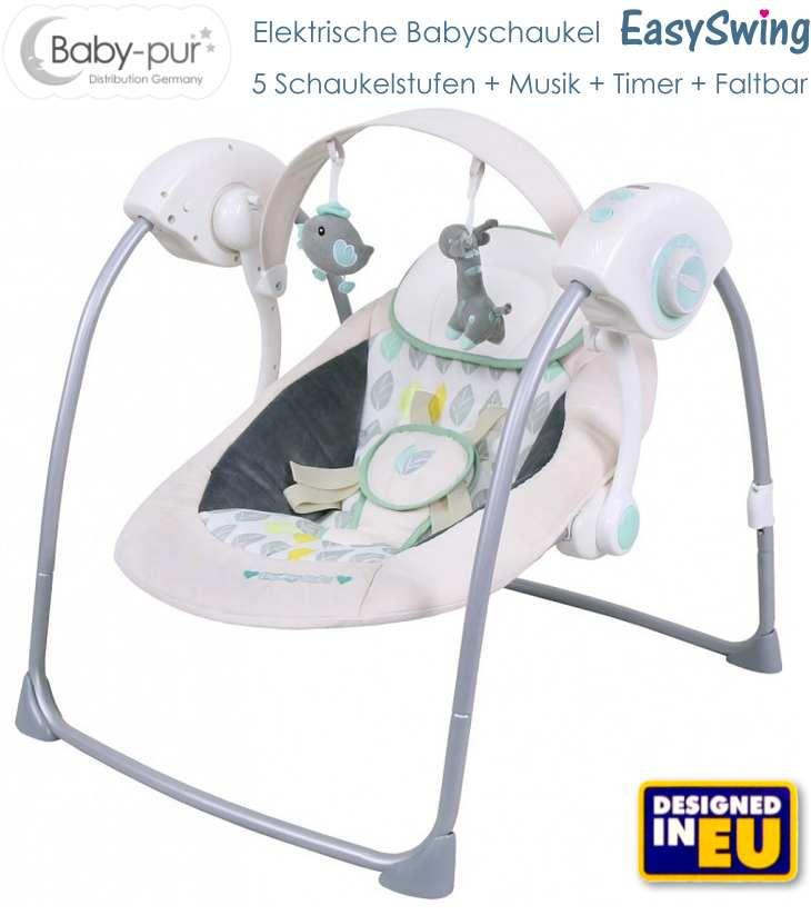 Baby-pur elektrische Babyschaukel creme Easyswing