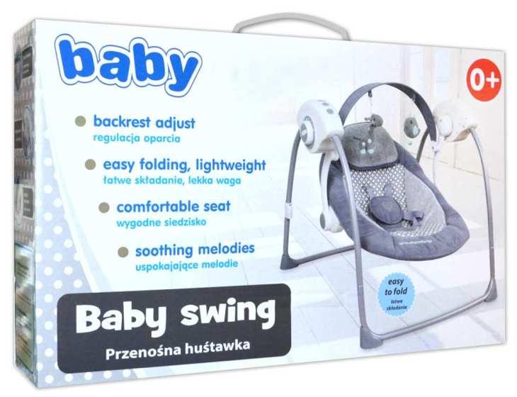 Baby-pur elektrische Babyschaukel grau Easyswing