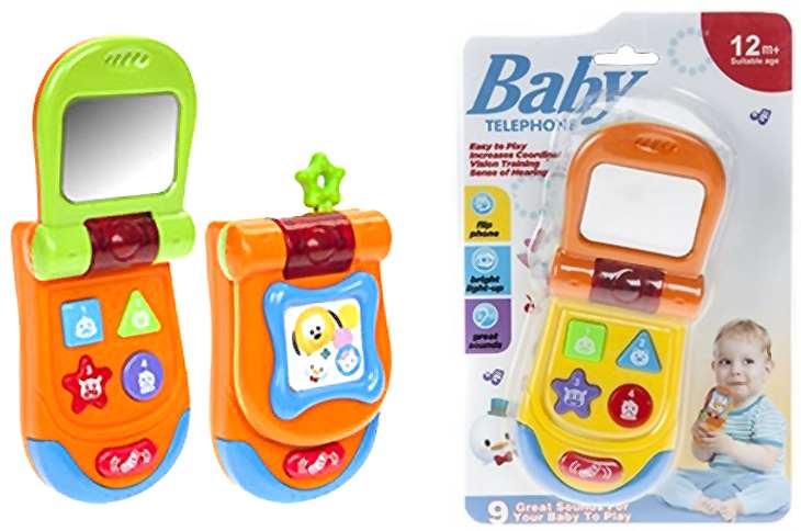 Baby Kleinkind Spielzeugtelefon mit Licht und Geräuschen