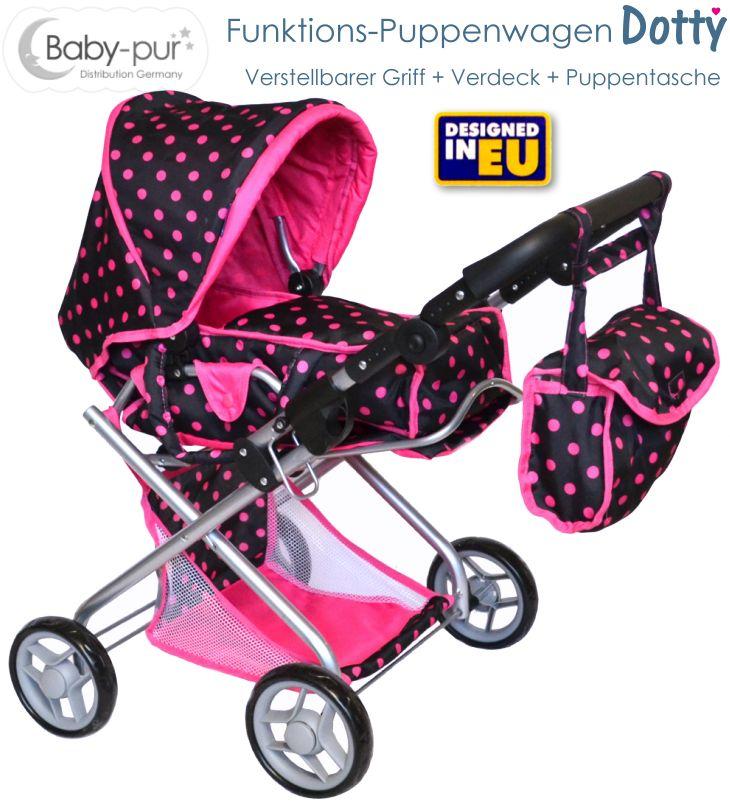 Baby-pur Puppenwagen mit Funktionen Dotty