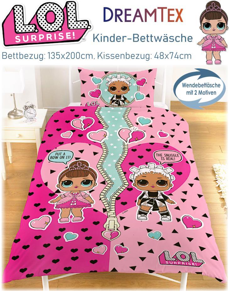 Kinder Bettwäsche LOL Surprise Glam