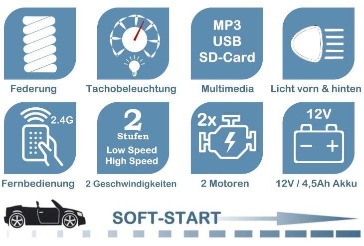 Elektroauto Audi A3 für Kinder