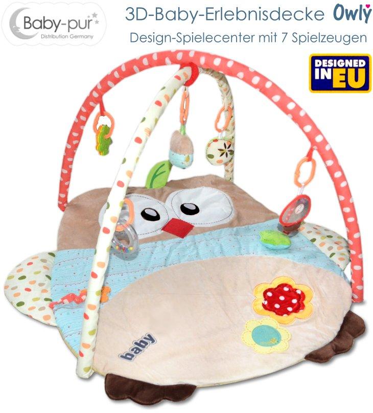 Baby-pur 3D Erlebnisdecke Spieldecke Baby Owly