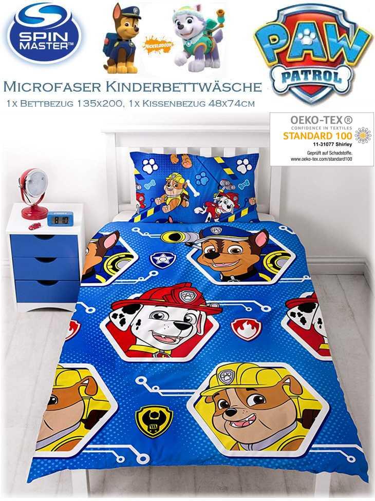Kinderbettwäsche Paw Patrol