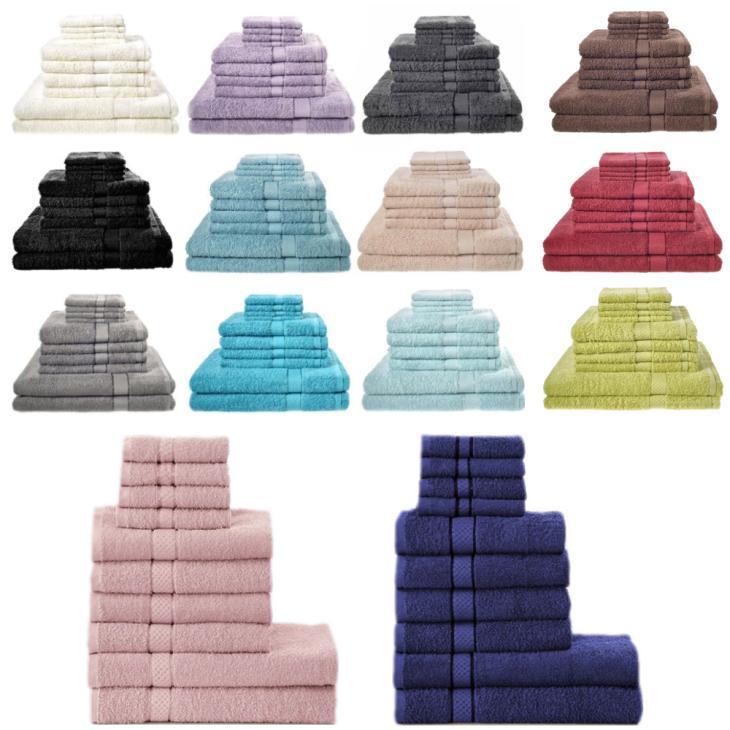 Handtuch-Set aus 100% Baumwolle